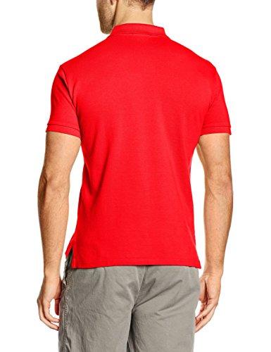 Polo Ralph Lauren Herren Poloshirt SS KC Slfit Ppc Rot (BRIGHT HIBISCUS A60AA)