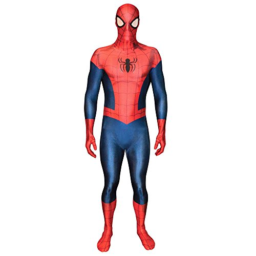SpiderMan Marvel Morphsuit Costume tutto il corpo Second Skin L (165-180cm)