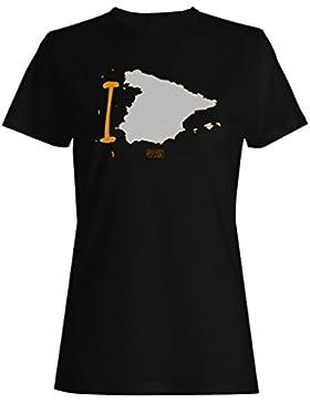 Nuevo I Amor España Arte camiseta de las mujeres m596f