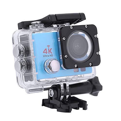 Action-Kameras, 4K DVR Portable 2,0 Zoll LCD 720P Wasserdichte Sportkameras mit Kleinen Box_Blue -