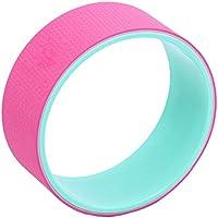 """qubabobo Yoga wheel- más fuerte más cómodo Dharma Yoga Prop círculo para estirar/apoyo para poses de Yoga y backbends, puente Pose (13""""x5""""), rosa"""