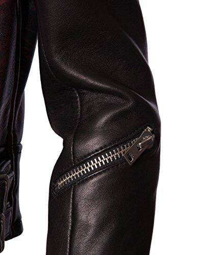 IRO Damen Lederjacke Gipsy Bikerjacke Jacke Leder – Leder – schwarz 01 black 42 - 4