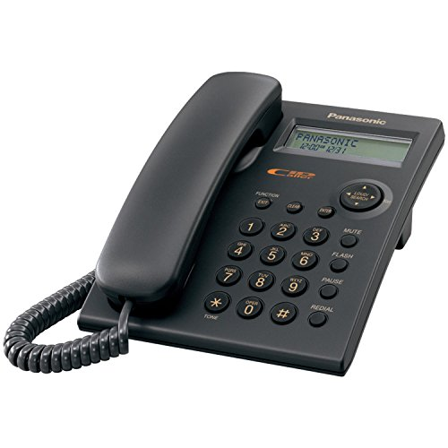 Panasonic kx-tsc11b mit Telefon, schwarz–Telefonen (schwarz, DECT, schwarz, Digital, LCD, Monochrom) (Lcd-flash Panasonic)