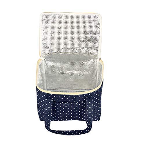 Zimuuy Kühltasche Lunchpaket Tragbares Outdoor Handtasche Lunchtasche Mode Wasserdichtes Isoliertasche zur Arbeit Schule Lunch Bag (Marine)
