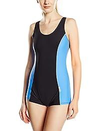 Damen Badeanzug Klassischer Schwimmanzug mit Schwimmerrücken SK0020