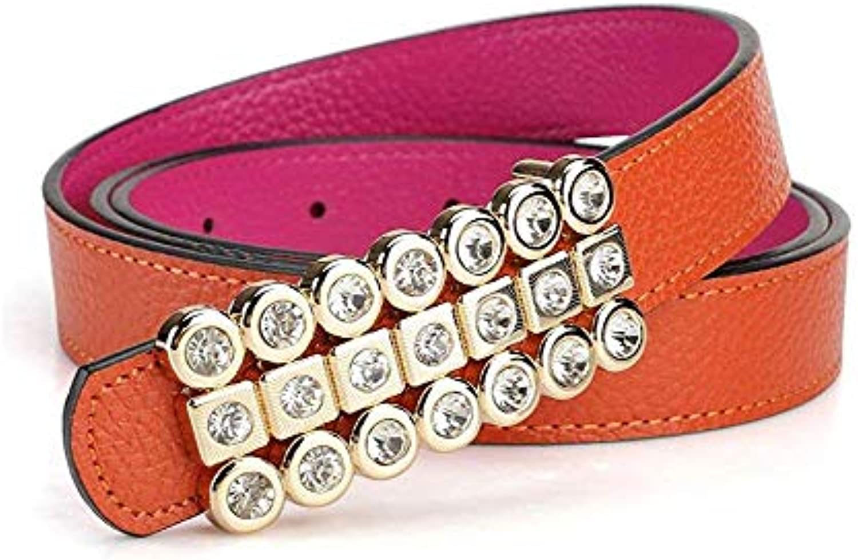 HUAIX Home Cintura Donna da Donna Cintura Coloreee Pelle Selvaggio - Pelle  Coloreee di Alta qualit agrave  - Largo 0 5daf252318ac