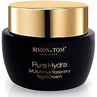 Simon & Tom – PURE HYDRA – Crema facial hidratante de noche – 50ML – Reduce las arrugas y reafirma la piel – Con Aceite de Argán Orgánico