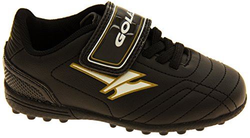 Footwear Studio , Chaussures de football pour garçon Noir noir Noir et Or
