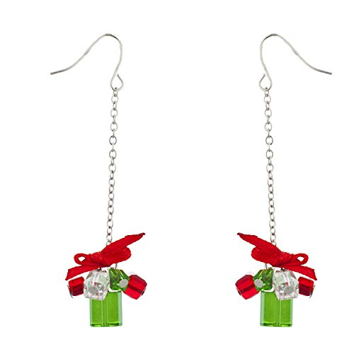 Lux accessori argento tono di Natale Vacanze di Natale orecchini pendenti