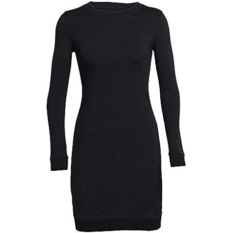 Icebreaker da donna Meadow Mid strati Dress, donna, Meadow, Black/Black/Black, XL