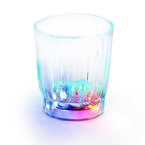 Shot Gläser Neuheit Kunststoff Leuchten katalogbasiert beleuchtet Funky Cocktail Gläser beleuchtet Multi farbige blinkende LEDs perfekt für Partys-Veranstaltungen (Led Shot Glas)