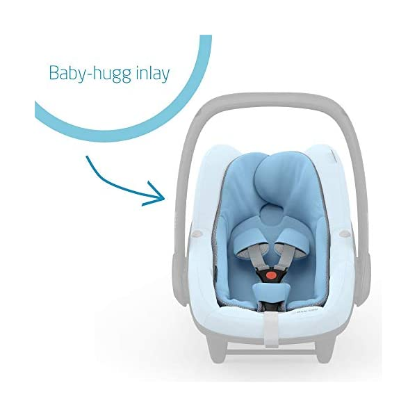 Maxi-Cosi Pebble Plus Baby Car Seat Group 0+, ISOFIX Car Seat, i-Size, 0-12 m, 0-13 kg, 45-75 cm, Sky Maxi-Cosi Baby car seat, suitable from birth to approximate 1 year (0-13 kg, 45-75 cm) Fits with compatible Maxi-Cosi base unit for ISOFIX installation i-Size for enhanced safety and optimal protection against side impacts 3