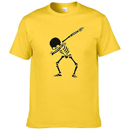 Lustige Männer T Shirt Frauen Neuheit Tshirt Skelett Halloween DAB Tanz cool T-Shirt-5, M