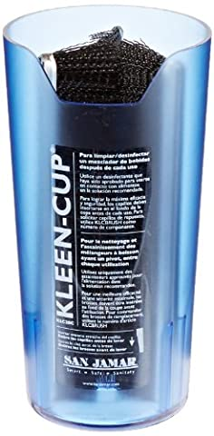 San Jamar KLC28C Kleen-Cup Spindle Cleaner And Sanitizer, 197 mm H x 102 mm D