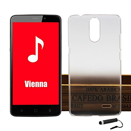 Tasche für Ulefone Vienna Hülle, Ycloud Handy Backcover Kunststoff-Hard Shell Case Handyhülle mit stoßfeste Schutzhülle Smartphone Weiß Transparent