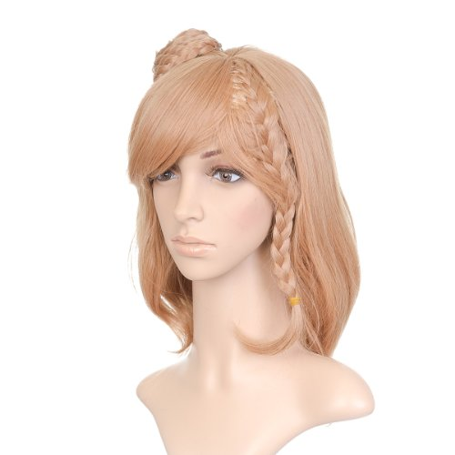 Dirty Biondo Short Length Anime Cosplay Costume Parrucca with Braid