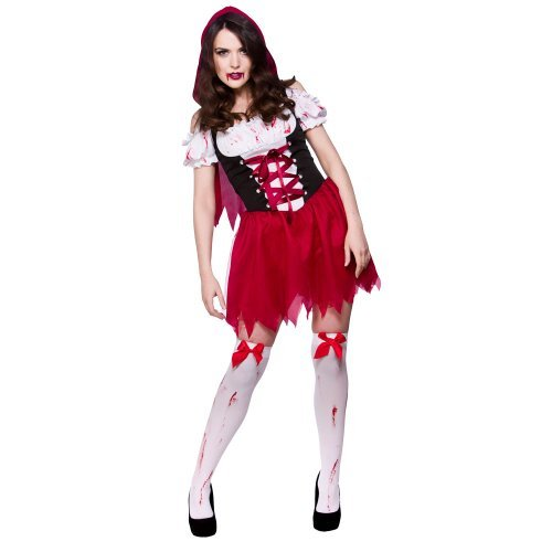 ng Hood Ladies Zombies Costumes for Adult Womens Living Dead Halloween Trick Treat Party Fancy Dress Up Outfits by Wicked Wicked (Little Dead Riding Hood Kostüm)
