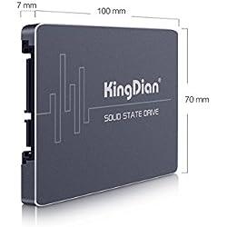 """KingDian S200 60GB MLC 2,5"""" 7 mm SATA III 6GB/s - Drive interno originale MLC 60GB SSD per kit di aggiornamento veloce per PC e MacPro"""