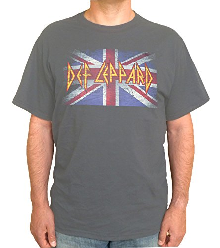 Official Def Leppard Vintage Union  Jack T-shirt, Small