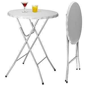 Table de bistro Table de bar Table d'appoint pliable - Diamètre 80 cm, argenté