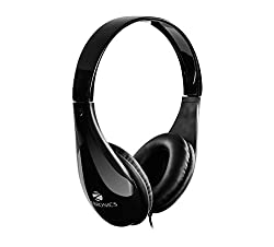 Zebronics ZEB-2100HMV Wired Headset Headphone 3.5mm with Mic | Soft Padded Cup over Ear