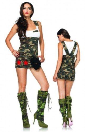 Leg Avenue 83775 - Combat Cutie Kostüm, Größe: M, braun/grün (Combat Cutie Kostüm)