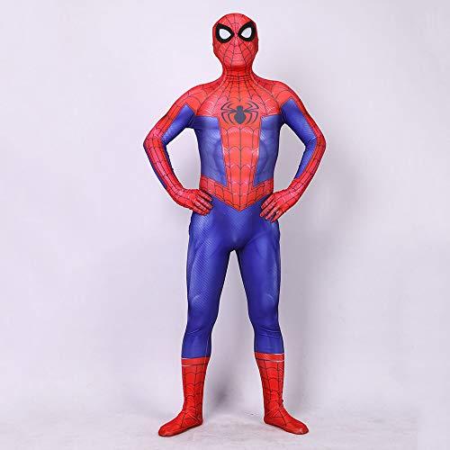 DSFGHE Spider-Man-Kostüm Cosplay Einteilige Strumpfhose Passt Anime Korsett Stretch-Kleid Maskerade Zeigen Requisiten Heldenanzug,Red-M
