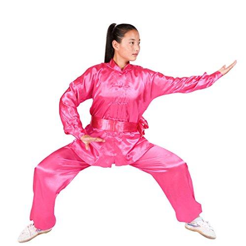 MUCHAO Junge und Mädchen langärmelige Tai Chi Kleidung Kinder Kampfkunst Training Anzug Kostüme Kung Fu Kleidung Freizeitkleidung Sportbekleidung