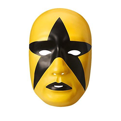 Gold Kostüme Dust (Halloween Karneval Cosplay WWE Wrestling Gold/schwarz Sternstaub Star Dust Das Gesicht Bedeckend Maske Kostüm geschnürt Kostüm Kleidung Zubehör - universell Größe mit elastischer)