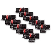 vhbw 10x Rollo color, rollo tinta para caja, ordenador Seiko M42T, Sears P42T-11 reemplaza IR40T, GR 745