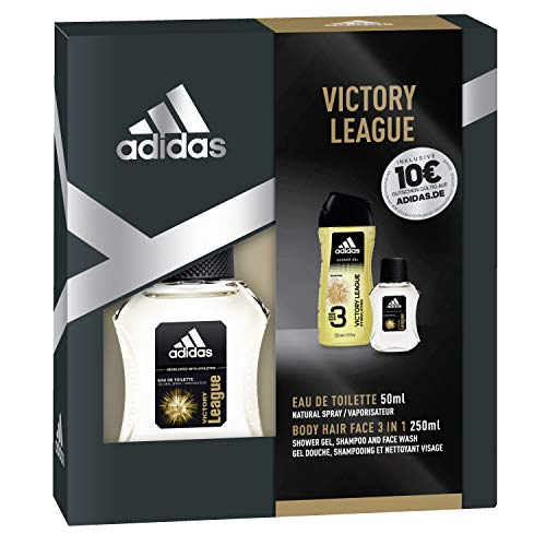 adidas Duftset Victory League Eau de Toilette 50 ml + Showergel 250 ml + Voucher, 300 ml -