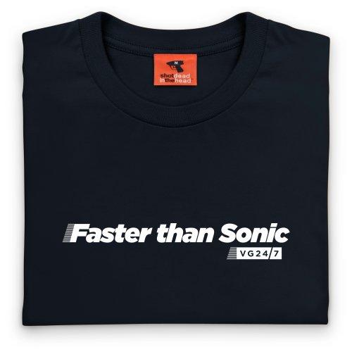 VG247 Sonic T-Shirt, Damen Schwarz