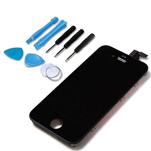 LL TRADER LCD Parti di ricambio per iPhone 4 Schermo Completo Assemblato Touch Screen Digitizer e Display + Strumenti - Nero