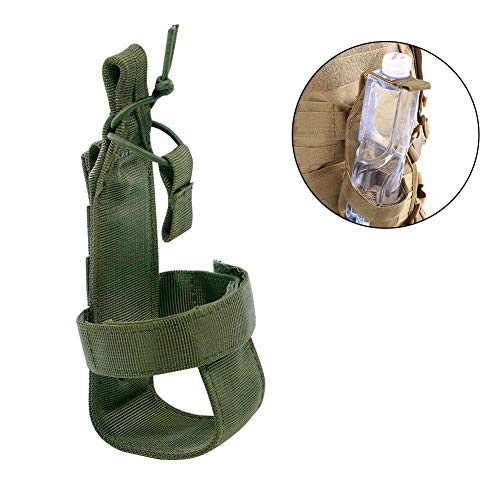 Arteki Outdoor Outdoor Nylon Minimalist Tactical Molle Water Bottle Holder for Backpack Outdoor Camping Belt Bottle Carrier (Army Green)