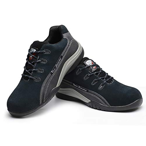 YXWa Ingenieurstiefel Herren Sicherheitstrainer leichte Stahl Arbeitsstiefel Stahlkappe Stiefel Leder Rise leichte Stahlkappe Arbeitsschuhe Ankle Wanderer Sportbekleidung für Männer (größe : 44)