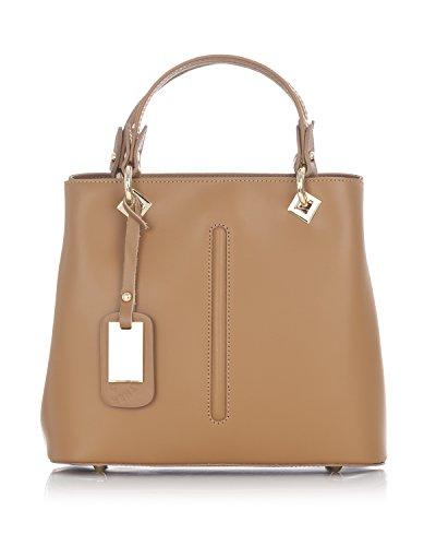 Laura Moretti - Borsa in pelle con dettagli metallici Leather