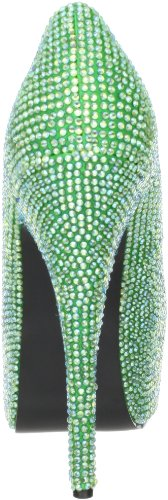 Pleaser Eu-Tee06R/Iri, Escarpins femme Green Satin-Irid RS