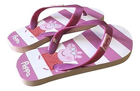 Sock Snob , Tongs pour fille M - Rose - Pink Sripe, M