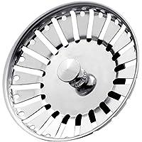 Stadux Stainless Steel Kitchen Sink Strainer Plug, Dual Function Basket Strainer and Plug   Sized for UK Sinks   Strainer Waste Plug (Diameter:84mm)