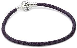 Pandora Damen-Armband Leder lila einfach gewickelt 20,5 cm 590705CPE-S3