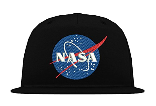 TRVPPY 5 Panel Kinder Junior Cap Modell NASA, Schwarz, b10b - Hat Tisa