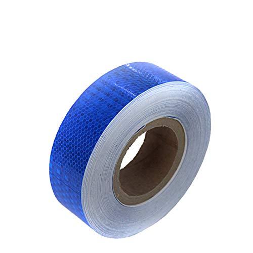 Gowold nastro adesivo fluorescente riflettente impermeabile nastro adesivo fai da te 5cm * 20m per decorazione/guida di fuga di emergenza/segnali di avvertimento (color : blu)