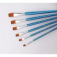 Kelaina Multifuncional Kits Profesionales multifuncionales Azules de la Pintura de la Acuarela del Aceite (1 Paquete de 6 cepillos)