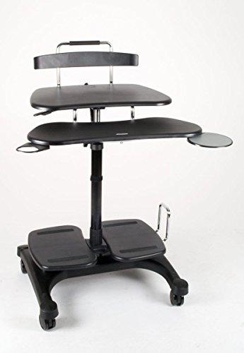 Affordable Height Adjustable Mobile Computer Standing Desk Cart Office Business Desk on Line