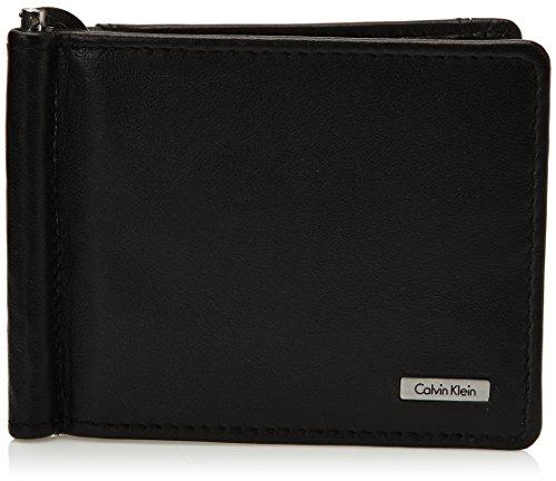 Calvin Klein Jeans Münzbörse Rail 8cc + Coin+Money Clip 2 Schwarz (Black) J5EJ500361 - Geldbörse Klein Calvin Männer