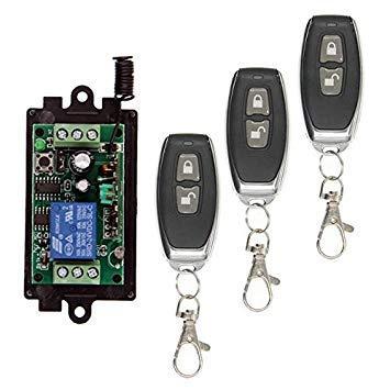 Sellify 10A 1 CH 1CH Empfänger Wireless Relay RF Fernbedienung Schalter Modul DC 9V 12V 24V +ON OFF Sender, 315/433 MHz - (Farbe: 3, Spannung: 9V, Größe: 315 MHz) : 3 / 9V / 315 MHz -