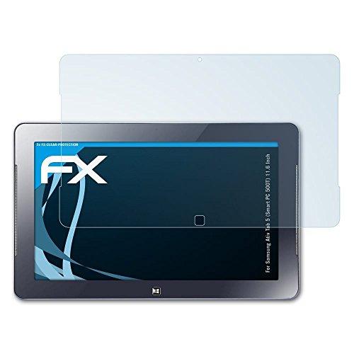 atFolix Displayschutzfolie für Samsung Ativ Tab 5 (Smart PC 500T) (11.6 Inch) Schutzfolie - 2 x FX-Clear kristallklare - Pc Smart Samsung 500t