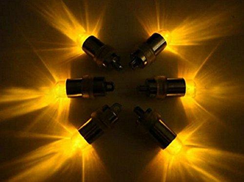 Tauchfähig Mini LED Party Lights Hochzeit Mittelpunkt Vase Schale Ballon & Laterne gelb/Bernstein 10Pack (Gelbe Laternen)