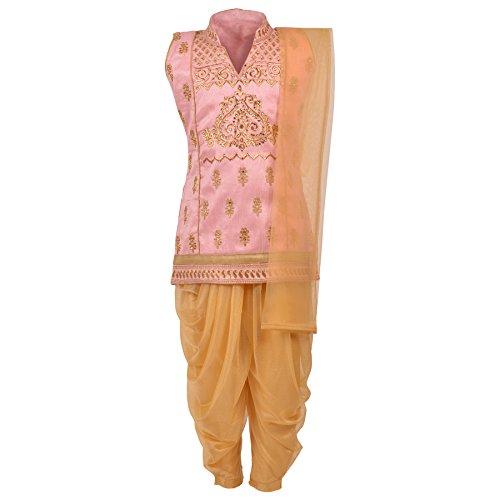 Aarika Girl's Embroidered Ethnic Patiala Suit Set