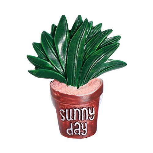 XIANGSHOU Simpatico deodorante per auto Cactus Balsamo solido Profumo Auto Aria condizionata Sfiato Profumo Clip Decorazione automatica Ornamento (3)